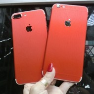 Dán decal nhôm xước iPhone 7 7 Plus Đỏ (Red)
