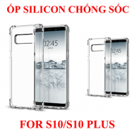 Ốp lưng Samsung S10/S10 Plus silicon trong chống sốc